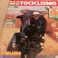 Carros e motociclos: MOTOCICLISMO - N ° 1010 - EXTRA JULIO - BMW K 100 LT. Lote 251741190