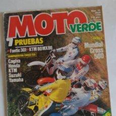 Carros e motociclos: REVISTA MOTOS MOTO VERDE Nº 96 JULIO 1986. Lote 254495990