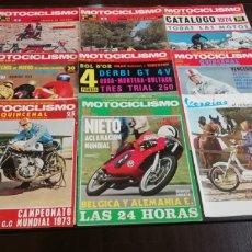 Coches y Motocicletas: LOTE DE 8 REVISTAS DE MOTOCICLISMO DE LOS AÑOS 70.. Lote 268877474
