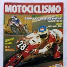 Coches y Motocicletas: MOTOCICLISMO Nº 1126 AÑO 1989 BMW R 100, GAS GAS 250, ALEX CRIVILLÉ, DUCATI 900 SS - PERFECTO ESTADO. Lote 268887419