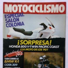 Coches y Motocicletas: MOTOCICLISMO Nº 1076 AÑO 1988 HONDA 800 V TWIN, BMW K-1, COTA 309 MONTESA, TRIAL - PERFECTO ESTADO. Lote 268888819