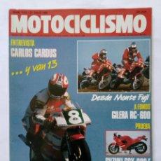 Coches y Motocicletas: MOTOCICLISMO Nº 1118 AÑO 1989 GILERA RC-600, SUZUKI, CROSS 125, BAJA ARAGÓN CARDÚS - PERFECTO ESTADO. Lote 268889444