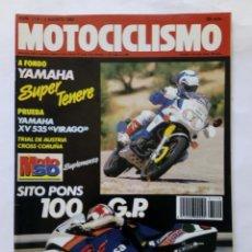 Coches y Motocicletas: MOTOCICLISMO Nº 1119 AÑO 1989 YAMAHA SUPER TENERE, VIRAGO, SITO PONS, CICLOMOTORES - PERFECTO ESTADO. Lote 268889694