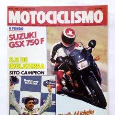Coches y Motocicletas: MOTOCICLISMO Nº 1120 AÑO 1989 SUZUKI GSX 750-F, MORÓN EUROPEO CROSS 125, KAWASAKI - PERFECTO ESTADO. Lote 268889909