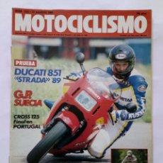 Coches y Motocicletas: MOTOCICLISMO Nº 1121 AÑO 1989 DUCATI STRADA 851, CROSS 125, SITO PONS - PERFECTO ESTADO. Lote 268890039
