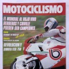 Coches y Motocicletas: MOTOCICLISMO Nº 1122 AÑO 1989 BMW K 100 LT, COMPARATIVA SCOOTERS 75, BIMOTA 75,... - PERFECTO ESTADO. Lote 268890194