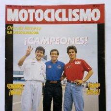 Coches y Motocicletas: MOTOCICLISMO Nº 1123 AÑO 1989 GILERA, HONDA, TARRÉS, SITO PONS, CRIVILLÉ, CHAMPI - PERFECTO ESTADO. Lote 268890379