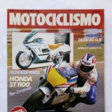 Coches y Motocicletas: MOTOCICLISMO Nº 1127AÑO 1989 DERBI 80 GP, HONDA ST 1100, HARLEY DAVIDSON '90, SITO - PERFECTO ESTADO. Lote 268890744