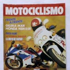 Coches y Motocicletas: MOTOCICLISMO Nº 1129 AÑO 1989 NOVEDADES HONDA, SUZUKI, HUSQVARNA TRIAL JORDI TARRÉS -MUY BUEN ESTADO. Lote 268891424