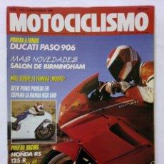 Coches y Motocicletas: MOTOCICLISMO Nº 1133 AÑO 1989 DUCATI PASO 906, NOVEDADES SALÓN, HONDA NSR, YAMAHA - PERFECTO ESTADO. Lote 268913449