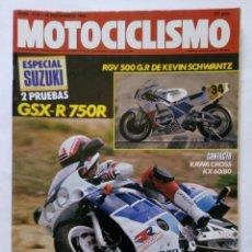 Coches y Motocicletas: MOTOCICLISMO Nº 1134 AÑO 1989 ESPECIAL SUZUKI, KAWASAKI CROS, HONDA NR 750,...- PERFECTO ESTADO. Lote 268913569