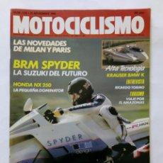 Coches y Motocicletas: MOTOCICLISMO Nº 1135 AÑO 1989 SUZUKI BRM SPYDER HONDA NX 250 NOVEDADES MILÁN PARÍS - PERFECTO ESTADO. Lote 268913684