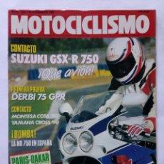 Coches y Motocicletas: MOTOCICLISMO Nº 1140 AÑO 1989 SUZUKI GSX-R 750, MONTESA COTA 310, YAMAHA CROSS '90 - PERFECTO ESTADO. Lote 268914399