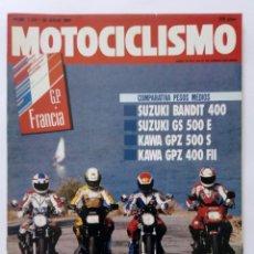 Coches y Motocicletas: MOTOCICLISMO Nº 1222 AÑO 1991 COMPARATIVA SUZUKI/KAWASAKI 400-500, BAJA ARAGÓN, ...- PERFECTO ESTADO. Lote 269073548