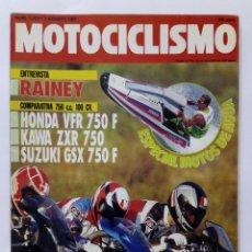 Coches y Motocicletas: MOTOCICLISMO Nº 1223 AÑO 1991 COMPARATIVA 750 CC HONDA, KAWA, SUZUKI, MOTOS AGUA - PERFECTO ESTADO. Lote 269074143