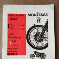 Carros e motociclos: PROGRAMA CAMPEONATO I GRAN PREMIO MOTORISTA CIRCUITO DE LOS MÁRTIRES - TORRENTE VALENCIA 1965. Lote 269166183