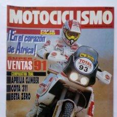 Coches y Motocicletas: MOTOCICLISMO Nº 1246 AÑO 1992 COMPARATIVA TRIAL APRILIA CLIMBER/COTA 311/BETA ZERO - PERFECTO ESTADO. Lote 269437958