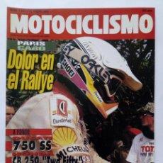 Coches y Motocicletas: MOTOCICLISMO Nº 1247 AÑO 1992 DUCATI 750 SS, HONDA CB 250, KTM/APRILIA 125- PERFECTO ESTADO. Lote 269441293