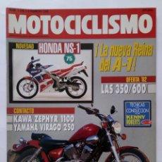 Coches y Motocicletas: MOTOCICLISMO Nº 1250 AÑO 1992 TÉCNICAS PILOTAJE, KAWA ZEPHYR 1100, YAMAHA VIRAGO - PERFECTO ESTADO. Lote 269442613