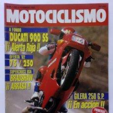 Coches y Motocicletas: MOTOCICLISMO Nº 1251 AÑO 1992 TÉCNICAS PILOTAJE, DUCATI 900, SUZUKI DR 350, GILERA - PERFECTO ESTADO. Lote 269443238