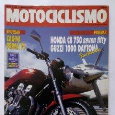Coches y Motocicletas: MOTOCICLISMO Nº 1254 AÑO 1992 TÉCNICAS PILOTAJE, HONDA CB 750, GUZZI 1000 DAYTONA- PERFECTO ESTADO. Lote 269444918
