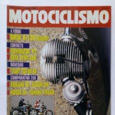 Coches y Motocicletas: MOTOCICLISMO Nº 1255 AÑO 1992 TÉCNICAS PILOTAJE, BMW R-100 ROADSTER, DOMINATOR '92,- PERFECTO ESTADO. Lote 269445308