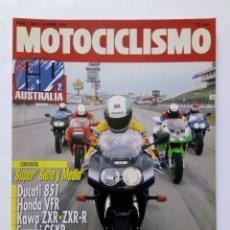 Coches y Motocicletas: MOTOCICLISMO Nº 1260 AÑO 1992 TÉCNICAS PILOTAJE, SUPER 750 DUCATI/HONDA/KAWA/SUZUKI -PERFECTO ESTADO. Lote 269447328