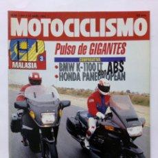 Coches y Motocicletas: MOTOCICLISMO Nº 1261 AÑO 1992 BMW K-1100 LT/HONDA PANEUROPEAN, KAWASAKI 250 ZXR/KDX -PERFECTO ESTADO. Lote 269447788