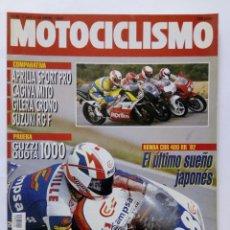 Coches y Motocicletas: MOTOCICLISMO Nº 1262 AÑO 1992 GUZZI QUOTA 1000, HONDA CBR 400 RR, COMPARATIVA 125 -PERFECTO ESTADO. Lote 269448363