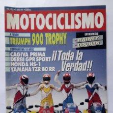 Coches y Motocicletas: MOTOCICLISMO Nº 1268 AÑO 1992 TRIUMPH 900 TROPHY, HONDA RAIDEN, COMPARATIVA 80 - PERFECTO ESTADO. Lote 269949468