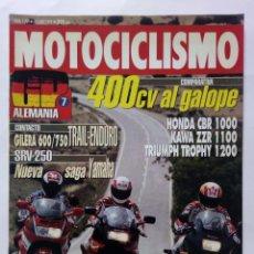 Coches y Motocicletas: MOTOCICLISMO Nº 1269 AÑO 1992 GILERA 600/750 TRAIL-ENDURO, COMPARATIVA 400 CV - PERFECTO ESTADO. Lote 269949843