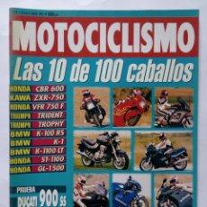 Coches y Motocicletas: MOTOCICLISMO Nº 1270 AÑO 1992 10 DE 100 CV HONDA, KAWASAKI, BMW, TRIUMPH, DUCATI - PERFECTO ESTADO. Lote 269950153