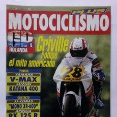Coches y Motocicletas: MOTOCICLISMO Nº 1271 PLUS AÑO 1992 178 PÁG. CRIVILLÉ, YAMAHA V-MAX, SUZUKI 400 - PERFECTO ESTADO. Lote 269950723