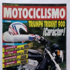 Coches y Motocicletas: MOTOCICLISMO Nº 1272 AÑO 1992 TRIUMPH TRIDENT 900, ESPECIAL VACAC PREPARA TU MOTO - PERFECTO ESTADO. Lote 269951193