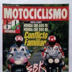 Coches y Motocicletas: MOTOCICLISMO Nº 1273 AÑO 1992 HONDA CBR 600/900, KAWASAKI ESTRELLA, HONDA CROSS - PERFECTO ESTADO. Lote 269951468