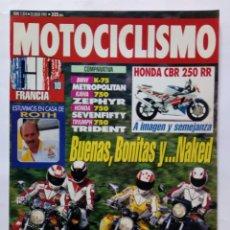 Coches y Motocicletas: MOTOCICLISMO Nº 1274 AÑO 1992 HONDA CBR 250 RR COMPARA BMW/TRIUMPH/KAWA/HONDA 750 - PERFECTO ESTADO. Lote 269952193