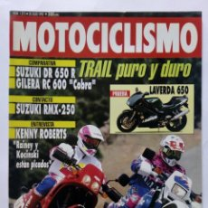 Coches y Motocicletas: MOTOCICLISMO Nº 1275 AÑO 1992 LAVERDA 650, SUZUKI RMX-250, YAMAHA CROSS '93 - PERFECTO ESTADO. Lote 269952703