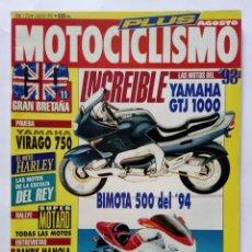 Coches y Motocicletas: MOTOCICLISMO Nº 1276 PLUS AÑO 1992 160 PÁG. YAMAHA GTJ 1000, VIRAGO 750, HARLEY, - PERFECTO ESTADO. Lote 269961568