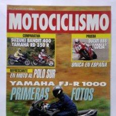 Coches y Motocicletas: MOTOCICLISMO Nº 1277 AÑO 1992 SUZUKI BANDIT 400 / YAMAHA RD 350 R, FJ-R 1000 DUCATI -PERFECTO ESTADO. Lote 269962038