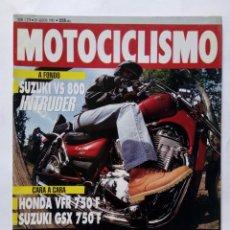 Coches y Motocicletas: MOTOCICLISMO Nº 1278 AÑO 1992 SUZUKI VS 800 INTRUDER, HONDA/SUZUKI 750, BMW R 100GS -PERFECTO ESTADO. Lote 269962348