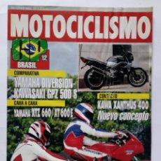 Coches y Motocicletas: MOTOCICLISMO Nº 1279 AÑO 1992 YAMAHA DIVERSION / KAWASAKI GPZ 500 S, YAMAHA XTZ 660 / XT600E, KAWA. Lote 269963178