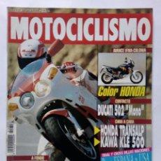 Coches y Motocicletas: MOTOCICLISMO Nº 1282 AÑO 1992 BIMOTA BIPOSTO, HONDA TRANSALP / KAWA KLE 500 - PERFECTO ESTADO. Lote 269964243