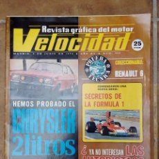 Coches y Motocicletas: VELOCIDAD Nº 665 AÑO 1974- PRUEBA TECNICA RENAULT 6 - PRUEBA CHRYSLES 2 LITROS- POSTER SEAT 133. Lote 270104048