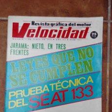 Coches y Motocicletas: VELOCIDAD Nº 664 AÑO 1974-PRUEBA TECNICA SEAT 133- COLECCINOABLE MOTOS HUSQVARNA. Lote 270104628