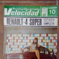 Coches y Motocicletas: VELOCIDAD Nº 337 AÑO 1968 - ESTUDIO COMPLETO RENAULT 4 SUPER-. Lote 270105183