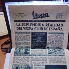 Coches y Motocicletas: EL NUMERO 1 ---- PORTAVOZ DEL VESPA CLUB DE ESPAÑA - AÑO I Nº 1 JULIO 1957. Lote 277679408