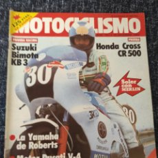 Coches y Motocicletas: MOTOCICLISMO Nº 781 AÑO 1982 HONDA CR500 SUZUKI BIMOTA KB3 RIEJU VARIMAT. Lote 278623373