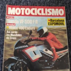 Coches y Motocicletas: MOTOCICLISMO Nº 848 AÑO 1984. PRUEBA: HONDA VF 500 F II. CONTACTO: MAICO 490 ENDURO.. Lote 278623578