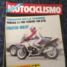 Coches y Motocicletas: MOTOCICLISMO Nº 939 AÑO 1984. PRUEBA: HONDA CBX 750 F. PRUEBA: MORINI 500 CAMEL. PRUEBA: MEC. Lote 278624268