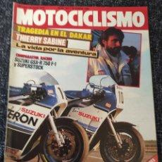 Coches y Motocicletas: MOTOCICLISMO Nº 937 AÑO 1986. PRUEBA: BENELLI CROSS 125. SUZUKI GSX R 750. COMPARATIVA: KAWA. Lote 278624568